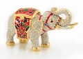 Miniature Elephant - Jeweled Box