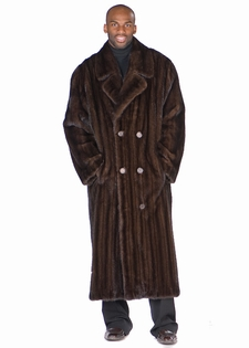 Mens Mink Coat | Brown Fur Coat | Mens Full Length Fur Coat