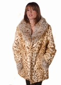Fur Jacket Reversible - Leopard Print