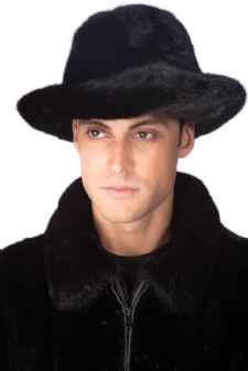 Mens Mink Hat - Mens Mink Fedora Hat