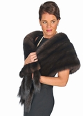 Sable Fur Stole - Russian Sable Fur Cape Stole