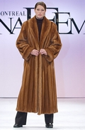 Mink Coat - Golden Dyed Female Shawl Collar