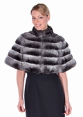 Chinchilla Princess Cape - Mandarin Collar