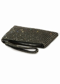 Evening Bag-Swarovski Crystal Mesh Wristlet-Black