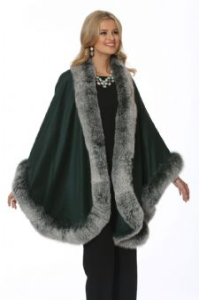 Emerald Frost Cashmere Cape - Plus Size