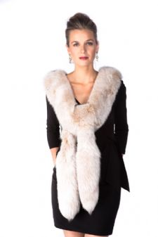 Fox Boa- Blush Frost Fox Fur Boa