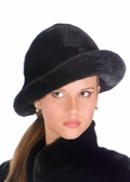 Ranch Mink Fur Hat- Black Mink Fedora