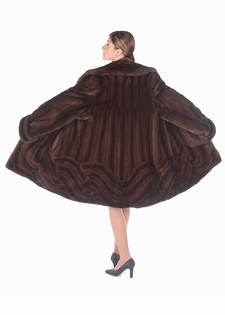 Mahogany Mink Jacket  -  Wave Design