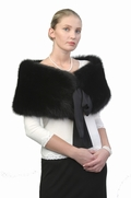 Black Fox Capelet - Silk Bow