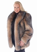Crystal Fox Fur  Jacket - Plus Size
