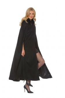 Cashmere Opera Cape Cloak- Black Fox Trim - 52