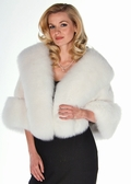 Mink Cape - White Mink White Fox Trim