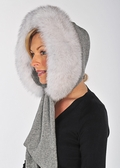 Fur Trimmed Hood - Blue Fox Fur Trimmed Hood