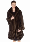 Mink Jacket Mahogany -  Pleated Panorama