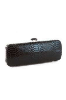Black Snakeskin Evening Bag