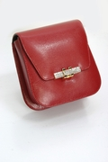 Red Evening Bag - Leather Handbag