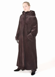 Mink Coat - Sheared Mink Coat Dark Brown
