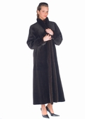 Sheared Dark Brown Mink Coat-Reversible to Fabric