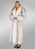 Fox Coat - Natural White Natural Blue 52