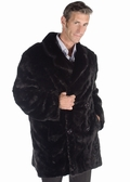 Mens Mink Car Coat - Sculptured Mink 37