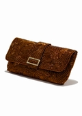 Bronze Beaded Evening Bag-Beaded Clutch Purse
