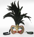 Party Mask - Feathered Corded Mask