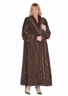 Mink Coat - Soft Brown Mink Brushstrokes Design