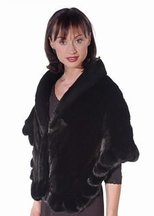Mink Fur Cape - Ruffled