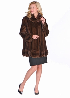 Melody in Mink - Natural Soft Brown Mink Jacket