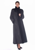 Sheared Sculptured Mink Fur Coat - Reversible