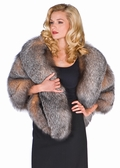 Plus Size - Crystal Fox Fur Cape