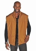 Mens Fur Vest - Golden Mink Reversible Zippered