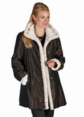 Reversible Mink Jacket-Winter Birch with Hood
