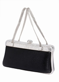 Swarovski Topped Lizard Evening Bag Mesh Handles