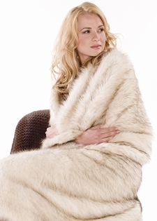 Fur Blanket- Knitted Raccoon Throw Bedspread