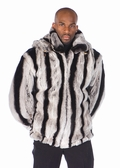 Mens Fur Rex Chinchillette� Jacket-Detachable Hood