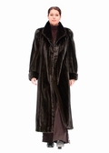 Deluxe Ranch Mink Fur Coat-Turned Back Cuffs
