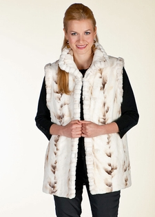 Mink Vest - Winter Birch Mink