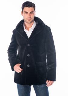 Men's Sheared Mink Jacket - Notch Collar Blazer