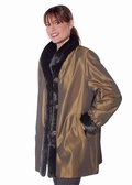 Sheared Mink Fur Jacket - Fabric Reversible