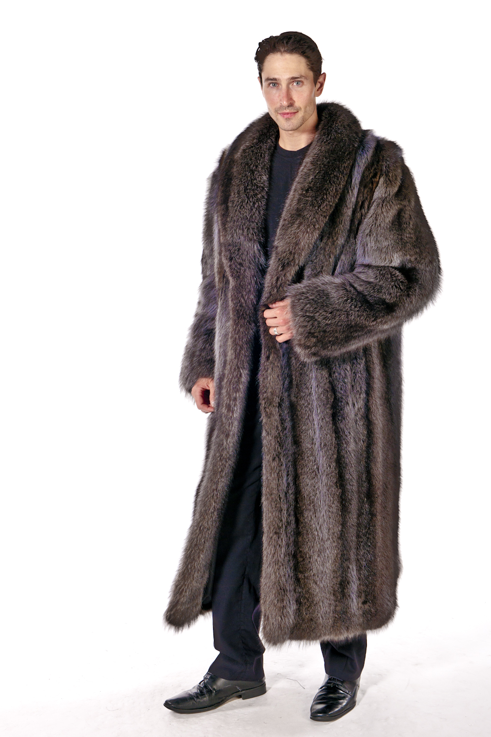 Mens Raccon Fur Coats and Jackets are sold at Madisonavemall.com