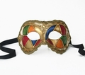 Party Mask - Harlequin Colors Ballroom Mask