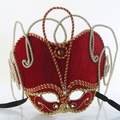 Party Mask - Braiding and Bravado in Red Velvet