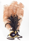 Feathered Party Mask - Plumed Venetian Mask
