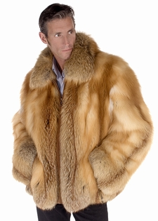 Mens Fur Jacket - Men's Natural Red Fox Jacket