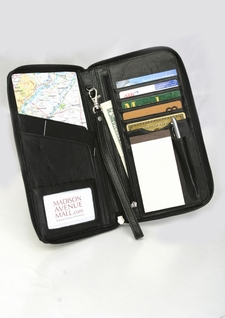 Leather Passport Holder and Travel Organizer