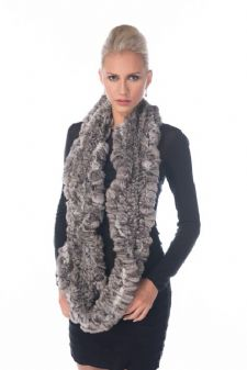 Chinchilla Infinity Scarf