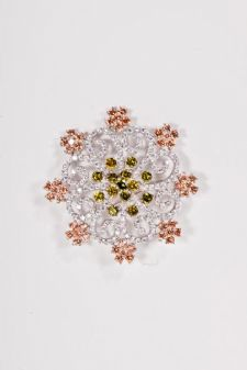 CZ Diamond Pin - CZ Diamond Pinwheel Brooch
