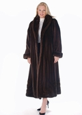 Mink Coat - Plus Size Mahogany Wave Design