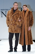 Mens Golden Mink Double Breasted Car Coat Jacket